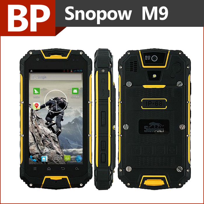 Original Snopow M9 Waterproof IP68 Phone 4.5 Inch 960x540 pixel MTK6589 Quad Core Android 4.2 Mobile Cell Phone 1GB RAM 4GB ROM(China (Mainland))