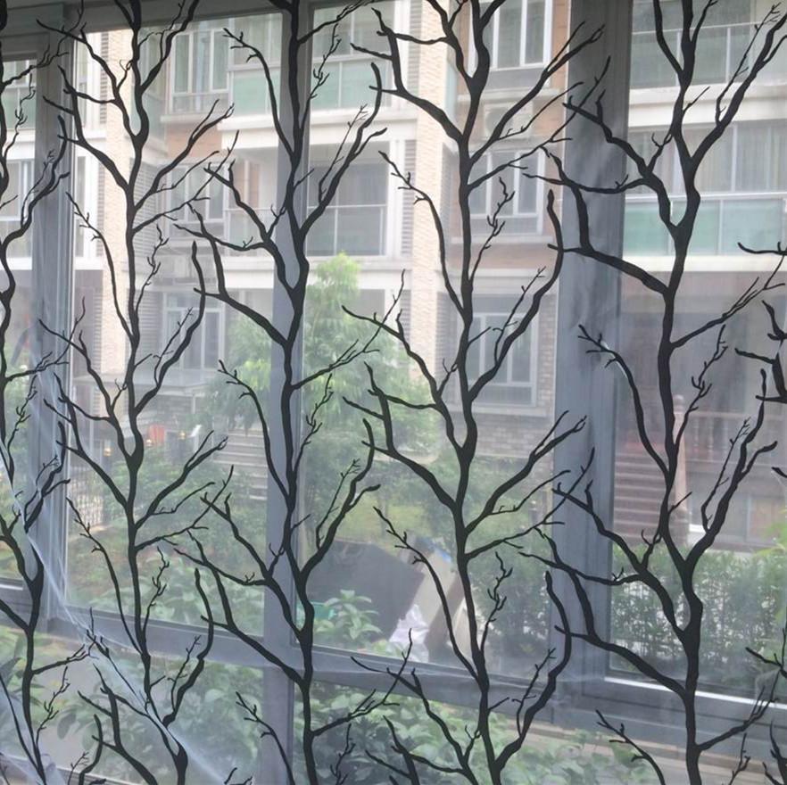 acheter livraison gratuite branche d 39 arbre floral fen tre rideaux de tulle voile. Black Bedroom Furniture Sets. Home Design Ideas