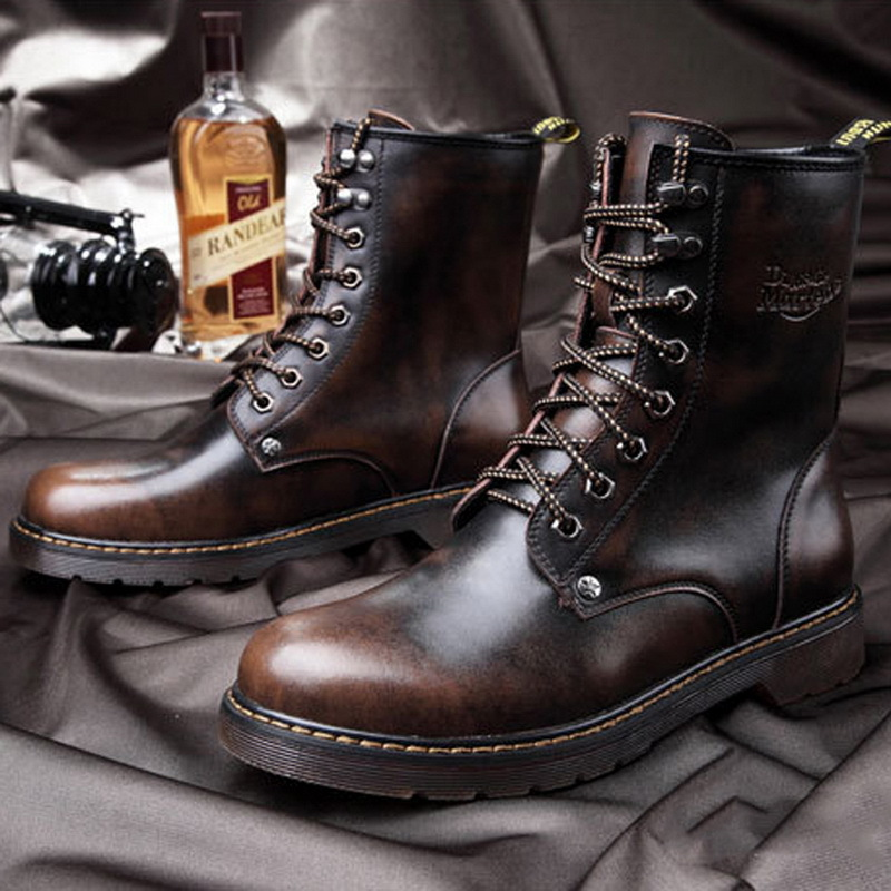 High Ankle Leather Boots - Yu Boots