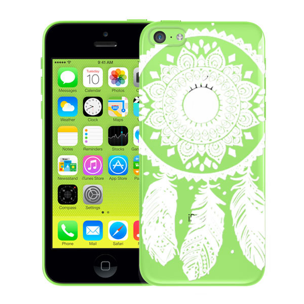 New Arrival Phone Cases for Apple iPhone 5c Case Cover Luxury PC Clear White Floral Paisley Mobile Phone Shell for iPhone5C Case(China (Mainland))