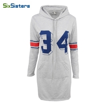 Buy SixSisters Spring gray hooded dress Women casual long sleeve bodycon dress Letter Cotton pocket Summer sexy mini vestidos HS1745 for $14.49 in AliExpress store