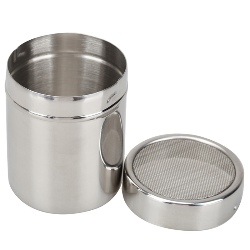 Stainless Steel Flour Sifter Icing Sugar Dredger Chocolate Coffee Powder Shaker Spice Dispenser Free Shipping(China (Mainland))