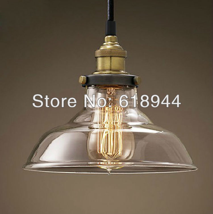 Wholesale restaurant dining room living room lamp glass vintage glass pendant - Lampe industrielle ikea ...