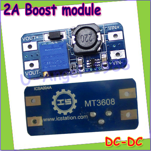 Wholesale 1pcs DC DC step up converter boost 2A power supply module IN 2V- 24V to OUT 5V-28V adjustable regulator board Dropship(China (Mainland))