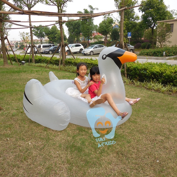 Summer Inflatable Rafts 75 inch 1.9m Inflatable Giant Crystal Swan Ride On Pool Floats Clear Swan Swimming Rings for Kids Adult(China (Mainland))