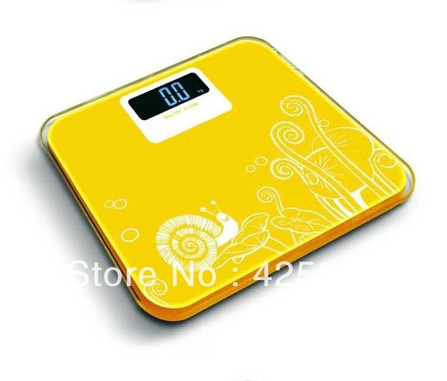 Free Shipping 150KG Yellow Digital Kitchen Scale Household Body Weight Scale Health Body Scales Yellow Digital Scale Bathroom