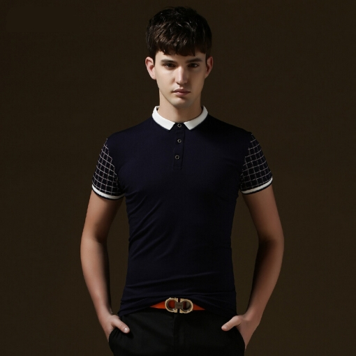 Men's 2015 New Fashion England Style Short Polos Cotton Casual Stylish Slim-fit Men - Vogue Home store