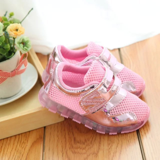 Big Girls Light Shoes New Color Matching Trainers Net Solid Boys Loafers Hollow 2015 Fashion - Buyworld Store store