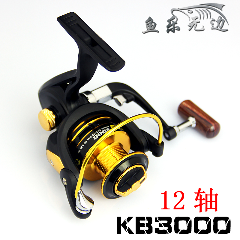 German technology for shimano feeder fishing 12 bears metal front drag spinning fishing reel freeshipping(China (Mainland))