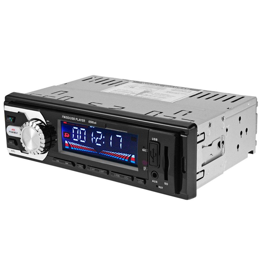 Auto Car Radio Audio Stereo FM SD WMA WAV MP3 Player AUX Input Bluetooth Receiver USB Handsfree Call for Vehicle Remote Control(China (Mainland))