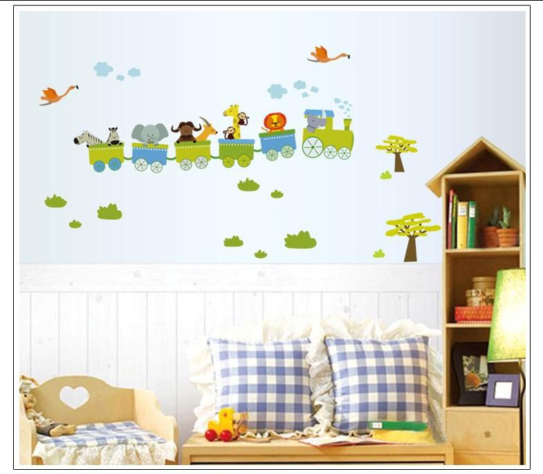 paredes adesivo de parede train children 39 s room decor living bedroom