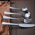 upscale stainless steel cutlery gift box knife and fork spoon Western Tableware free shipping