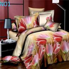 Home textiles cotton Leopard grain rose 3D bedding sets King size 4 Pcs of duvet cover bed sheet pillowcase bedclothes(China)