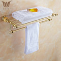 62 Jade Series Series Golden Polish Copper Jade Towel Rack Continental Bathroom Accessories Sanitary Wares Towel