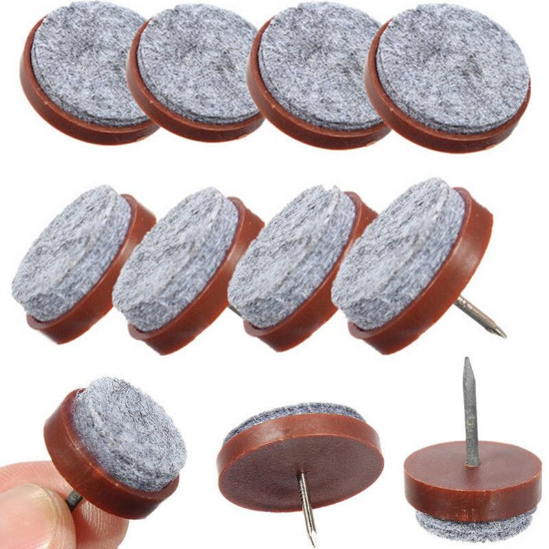 Round No-noise Furniture Table Leg Anti Slip Mat Floor Felt Skid Glide Slide DIY Nail Protector Chair Feet Pads 20/24/28mm 10PCS(China (Mainland))