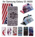 S5 Case New Wallet Flip PU Leather Cover Case for Samsung Galaxy SV S5 i9600 G900