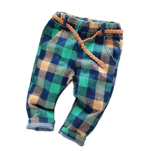 2015 new cotton terry boys and girls spring and autumn trousers children pants baby pants neutral Kids jeans(China (Mainland))