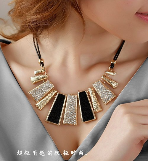 Colar Fashion Statement Necklace for Women 2015 Jewelry Leather Collar Necklaces Pendants Collier Mujer Bijoux Femme