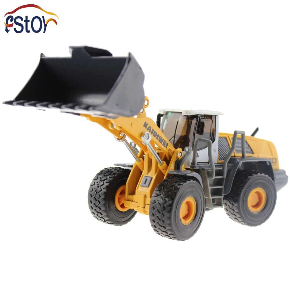 Metal Alloy Diecast Toy Bulldozer Truck Model 1:50 4 Wheel large Liftfork Engineering Truck Collection Toys(China (Mainland))