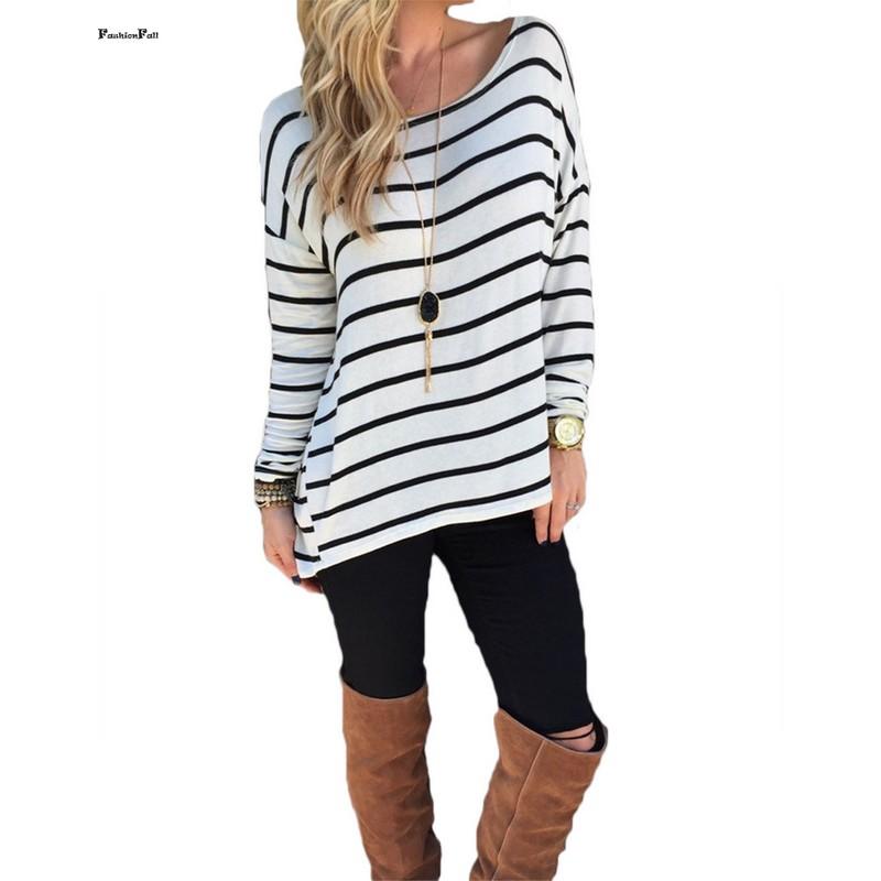 korean striped t shirt women clothes autumn winter tops long sleeve basic t shirt long tee shirt. Black Bedroom Furniture Sets. Home Design Ideas