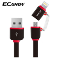 ECandy 2 in 1 Micro USB Cable For Lightning Cable for iPhone 5s 6s iPad iPod