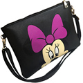 Women Brand Designer PU Leather Cartoon Envelope Handbag Lady Mickey Minnie Hello Kitty Clutch Shoulder Bag