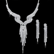 TOUCHEART Hochzeit Schmuck-Set Kristall Braut Schmuck Sets Für Frauen Lange Quaste Aussage Halskette/Ohrringe Set SET150011(China)