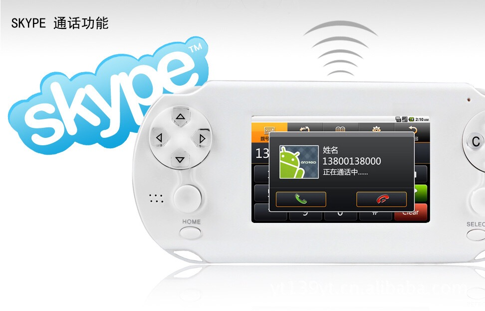 Tlex Ulike Android System Touch Screen Wifi Handheld Mini Tablet Game Console with 1080P HDMI Output and Skype Support(China (Mainland))