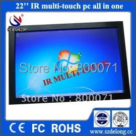 22'' IR SAW multi touch pc all in one,Intel i3 CPU,Nvidia GT218 dedicated graphic card,HD 1080P