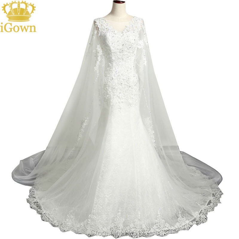 Shoulder cape pattern reviews online shopping shoulder for Wedding dress with cape train