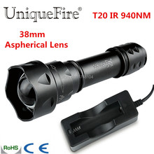 Free Shipping Mini 3 Mode T20 IR 940NM LED Adjustable Focus Flashlight Torche Zoomable 38mm Convex Lens Torche