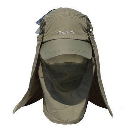 Santo Outdoor 360 Degree UV Protection Sun Hat Folding Visor Mosquito Cap Hiking Jungle Hats Mountain Bike Camping Sun Cap(China (Mainland))