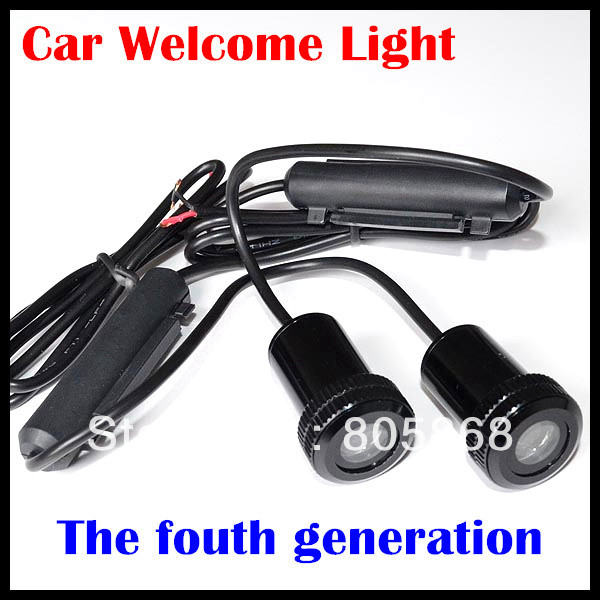 HOT SALE!!!The fourth generation New 7W Car Door Welcome Light Laser Lights with car logo light led Shadow light
