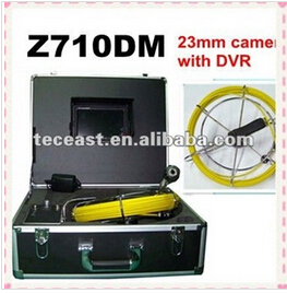With DVR Function,20m Cable Pipe Inspection camera TEC-Z710DM , sewer pipe inspection camera(China (Mainland))