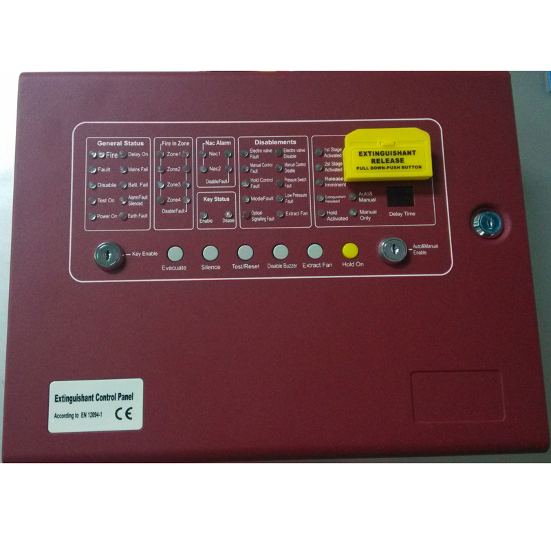 4 ZONE Gas fire controller AUTOMATIC EXTINGUISHER CONTROL PANEL Conventional Fire Fighting Panel CM1004(China (Mainland))