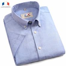 Buy Langmeng brand 100% cotton men shirt short sleeve casual shirts male camisa masculina mens social dress shirt camisas hombre for $16.99 in AliExpress store