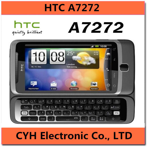 A7272 Original Unlocked HTC Desire Z A7272 Cell phone 1.5GB 3G 5MP GPS WIFI Android OS 2.2 QWERTY SLIDE SMARTPHONE(China (Mainland))