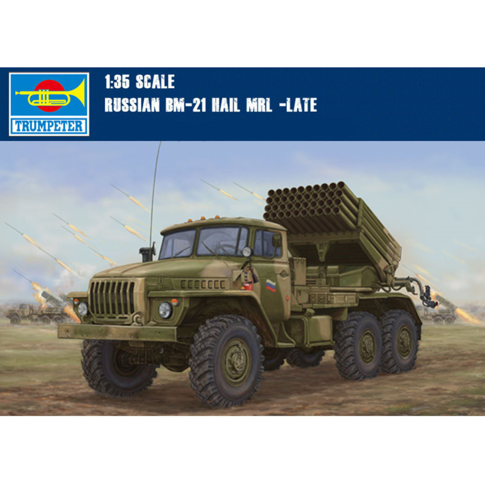 1x Trumpeter 01014 1/35 Scale Russia BM21 Grad Late Version Plastic Model(China (Mainland))
