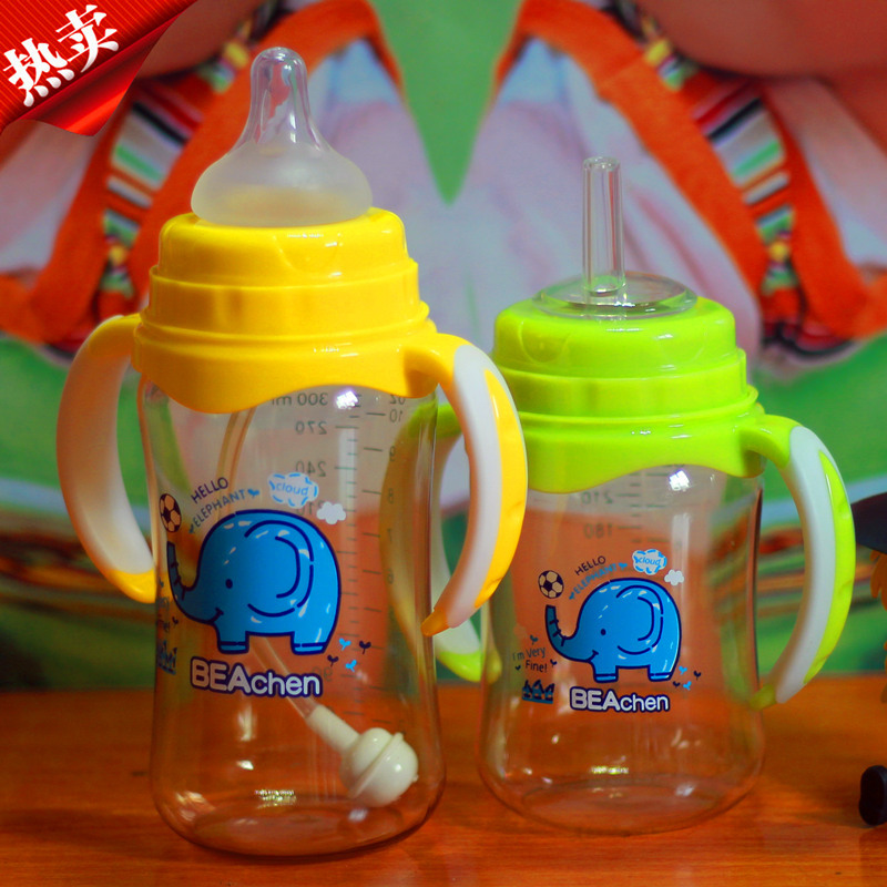 Bottle wide scope with the handle straw baby products bottles maternal and infant supplies<br><br>Aliexpress