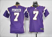 100% stitched youth Minnesota Vikings children 5 Teddy Bridgewater 28 Adrian Peterson 84 Cordarrelle Patterson Embroidery Logos(China (Mainland))