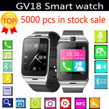 Torntisc GV18 Smart Watch Support Sim / TF Card NFC Bluetooth 3.0 Connection Wristwatch Pedometor Sleep monitor for IOS Android