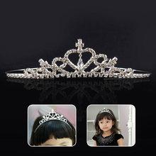 Kids Girls Glitter Rhinestone Twinkle Princess Crown Tiara Headband Hair band FLower Girl Wedding Birthday Evening Party