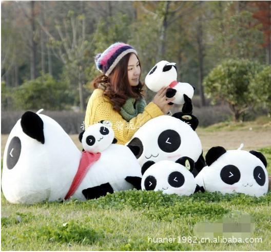 70cm-High quality hot sale Panda plush toy doll stuffed toy doll gift giant panda stuffed animal free shipping(China (Mainland))