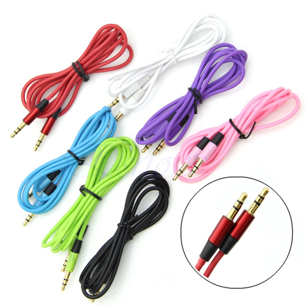 J35 Free Shipping 3.5 mm Jack Male to Male Audio Stereo Aux Extension Cable Cord For iPhone(China (Mainland))