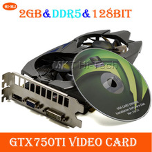 Per desktop di cf wow blade & soul giochi 3d 2 gb gddr5 a 128bit scheda video scheda grafica gtx750ti computer placa de video per nvidia(China (Mainland))