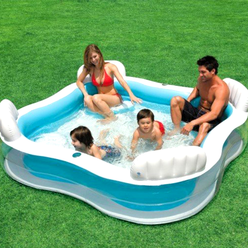 Large size family square inflatable swimming water pool for Alor group piscine