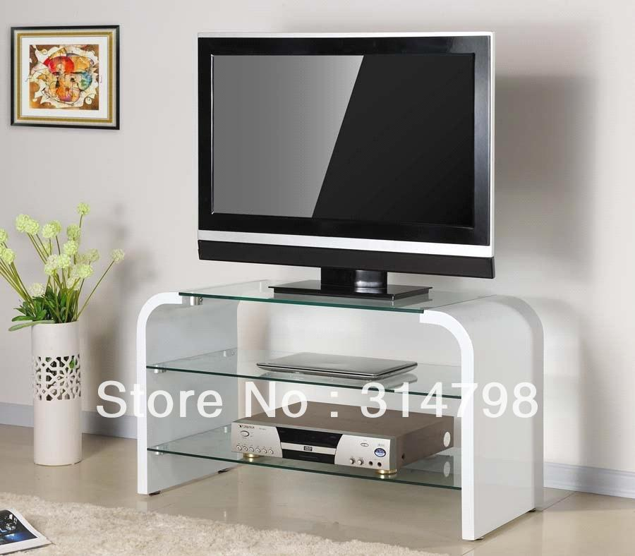 White TV Stand Made Of MDF With Painting Modern TV Cabinet For Living Room F