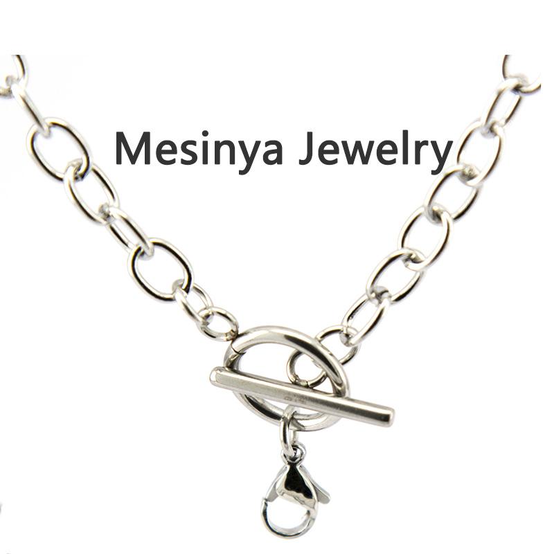 10 шт. 24 '' 6 мм ширина нержавеющей стали плоские овальные переключить цепи для плавучих очарование стекла медальон эфирное масло диффузор ожерелье