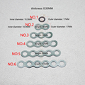 3 and 18650 lithium battery pack Insulation gasket meson 6 and series hollow flat head positive