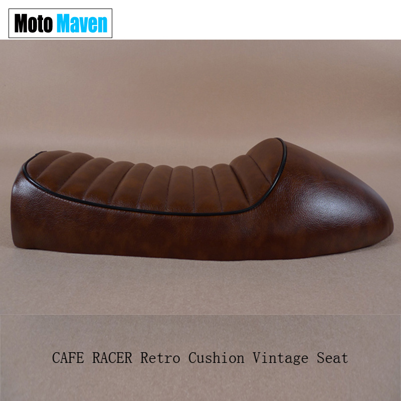 Free Shipping Factory Outlet 1976 1977  CG 125 CB 250 350 550 650 BROWN CAFE RACER Vintage motorcycle SEAT SPORTSTER Four Model <br><br>Aliexpress